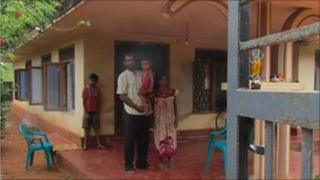 Raghunathan with his family