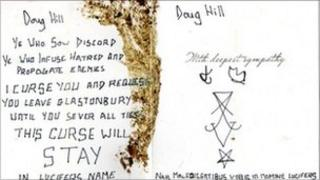 Curse received by Doug Hill