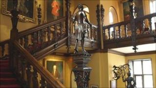 The staircase in Blickling Hall's Great Hall