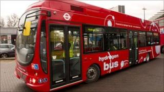 One of Transport for London's hydrogen buses