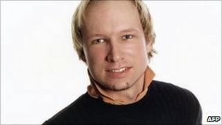 Suspected Norway attacker Anders Behring Breivik, in a photo taken from Facebook