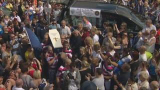 Crowds at PNE coffin burial
