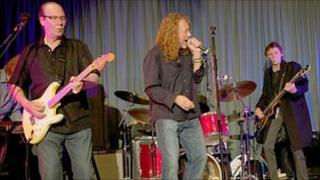 Robert Plant performs at gig in Monmouth