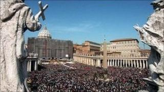 St Peter's Square, Rome, file pic