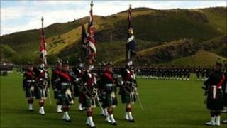 Members of the Royal Regiment of Scotland