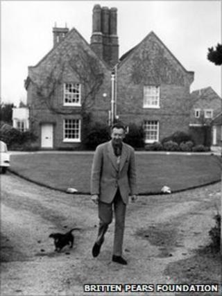 Benjamin Britten at the Red House, Aldeburgh
