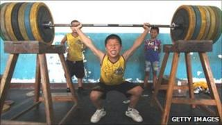 Young Chinese athlete