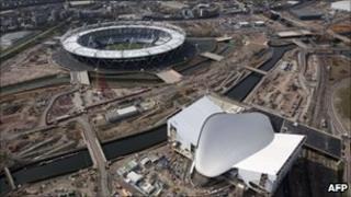 Olympic stadium and aquatic centre