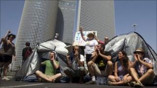 Tent protest in Tel Aviv