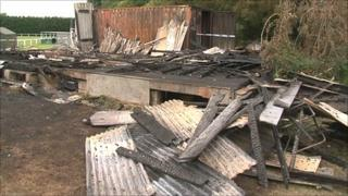 Cottesmore FC's garage and changing rooms burnt in fire