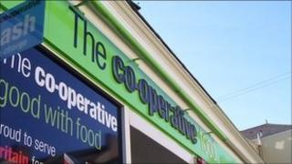 Co-operative store sign
