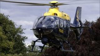 Northumbria Police helicopter