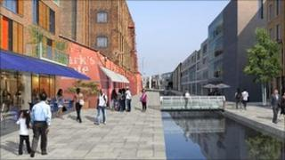 Artist's impression of the Meridian Water development