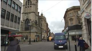 The Cross in Gloucester city centre