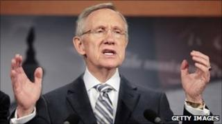 Democratic Senate Majority Leader Harry Reid