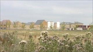 The site for the new homes at Priors Hall near Corby
