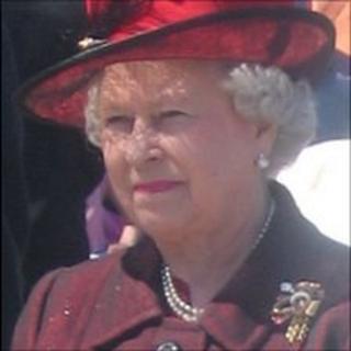 Queen Elizabeth II on a visit to Guernsey in 2005