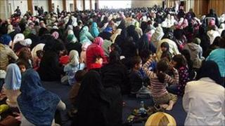 Friday prayers at the 2008 Living Islam event