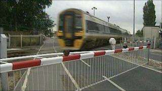 Barrier at level crossing