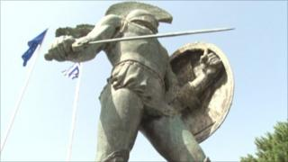 Statue of ancient Spartan King Leonidas