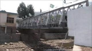 The new bridge in the Swat Valley