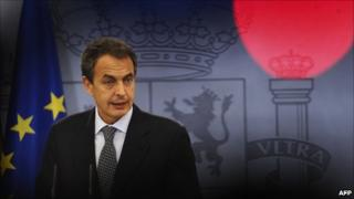 Jose Luis Rodriguez Zapatero in Madrid, 29 July