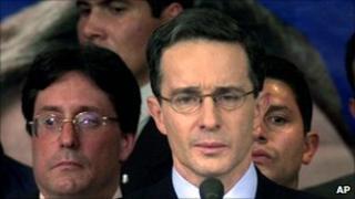 Former Colombian President Alvaro Uribe, 2002