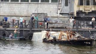 Site of boat sinking in Moscow, 31 July