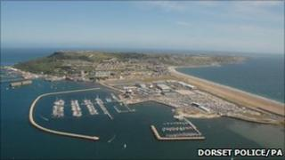Aerial view of the Weymouth and Portland National Sailing Academy (Dorset Police/PA)