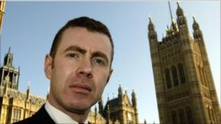 Adam Price, former Plaid Cymru MP who stood down at the 2010 election, pictured outside the Houses of Commons in 2005