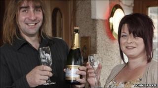 EuroMillions winners. Pic: John Bailkie