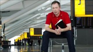Tony Parsons at Heathrow Airport