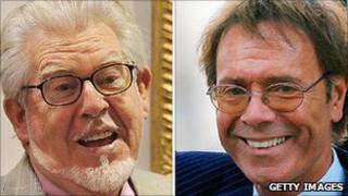 Rolf Harris and Sir Cliff Richard