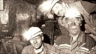 On the coal face in Bersham colliery in 1986