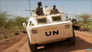 A UN patrol in Abyei
