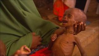 Somalian refugee seeking shelter and food