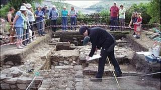 The Lunesdale archaeology group has been digging near Tebay.