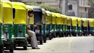 Delhi autorickshaws