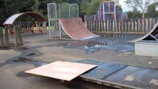 Monkmoor skate park, Shrewsbury
