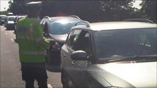 Police talk to motorists