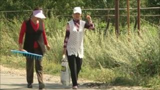 Women in the village of Dzoragyugh