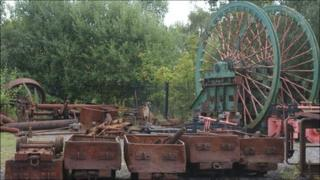 Winding gear at former Bersham pit