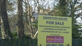 Ormiston House with for sale sign outside