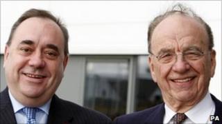 Alex Salmond and Rupert Murdoch