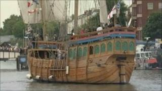 Ship at the Bristol Harbour Festival