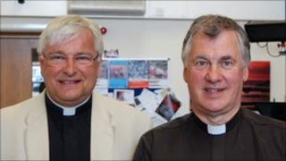 Canon Paul Mellor and Father Michael Hore