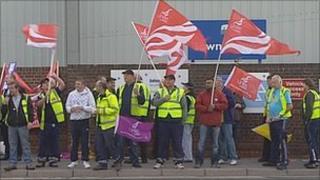 Southampton workers on strike