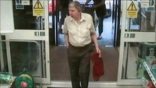 Man entering shop
