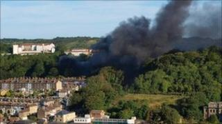Dover fire (picture by Ian Palmer)