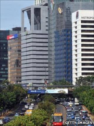 Jakarta office blocks